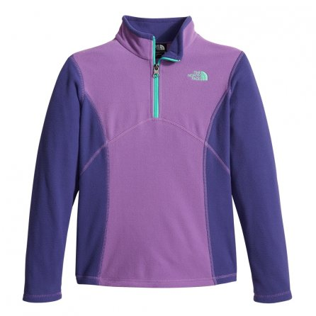 The North Face Glacier Half Zip Fleece Mid-Layer (Girls') - Bellflower Purple