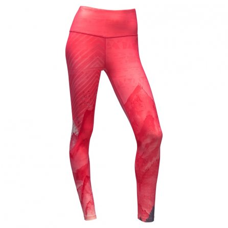 The North Face Super Waisted Printed Legging (Women's) - Calypso Coral Mountain Print