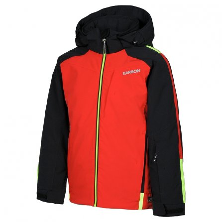Karbon Axle Insulated Ski Jacket (Boys') - Black/Red/Neon Lime