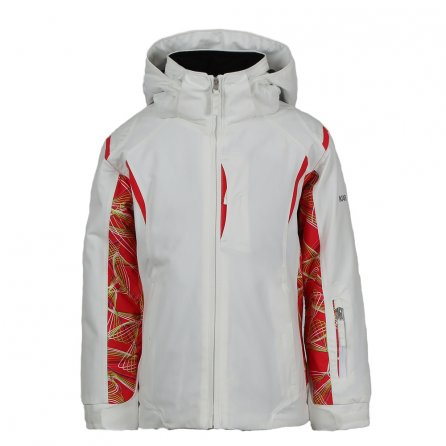 Karbon Celeste Insulated Ski Jacket (Girls') - Arctic White/Paradise Print