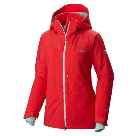 Columbia Carvin Ski Jacket (Women's) - Red Camellia Spray