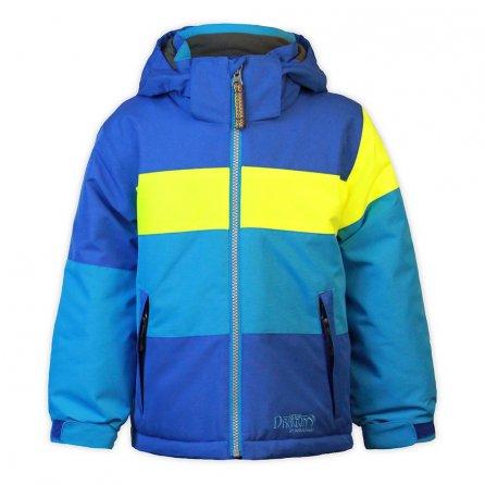 Snow Dragons Sparks Ski Jacket (Little Boys') - Nautical Blue/Electric Yellow/Sky Blue