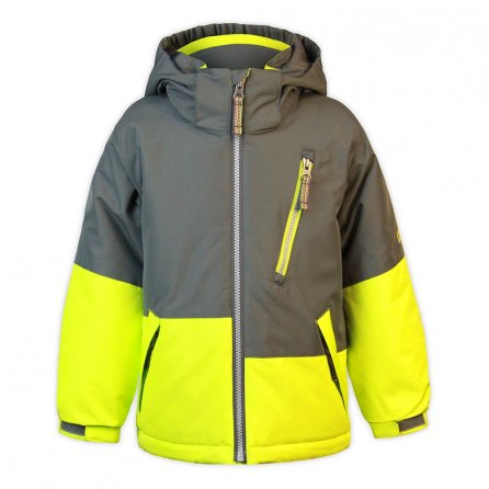 Snow Dragons Dialed Ski Jacket (Little Boys') - Gray Shadow/Electric Yellow