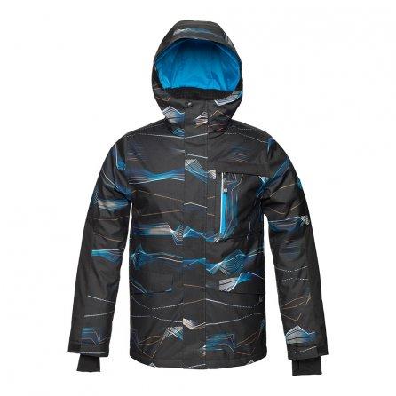 Jupa Emerik Ski Jacket (Boys') - Deep River Blue Print