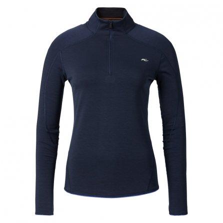 KJUS Trace Half Zip Fleece Mid-Layer (Women's) - Atlanta Blue/Melange