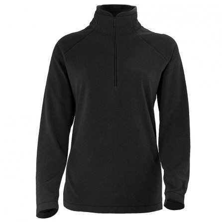 White Sierra Alpha Beta Half Zip Extended Fleece Mid-Layer (Women's) - Black