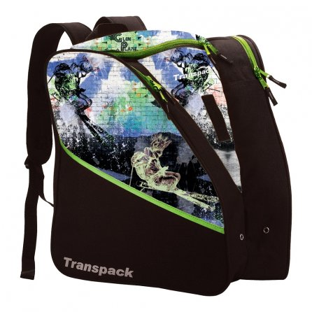 Transpack Edge Jr Printed Ski Boot Bag - Lime Glen Plake