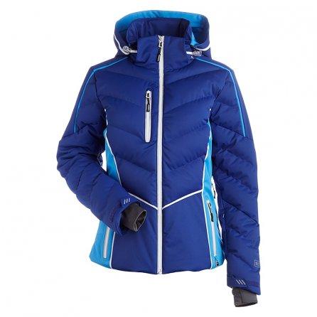 Nils Flo Insulated Ski Jacket (Women's) - Indigo/Glacier Blue/White