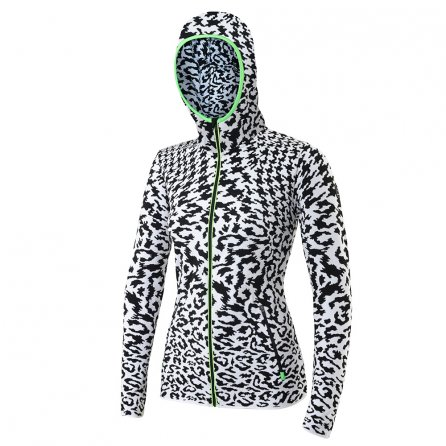NEWLAND L CORINA F/Z HOODED SWTR - Black/White