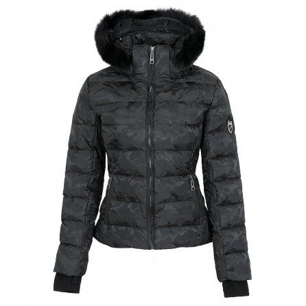Skea Didi Insulated Ski Jacket with Fur (Women's) - Black Camo