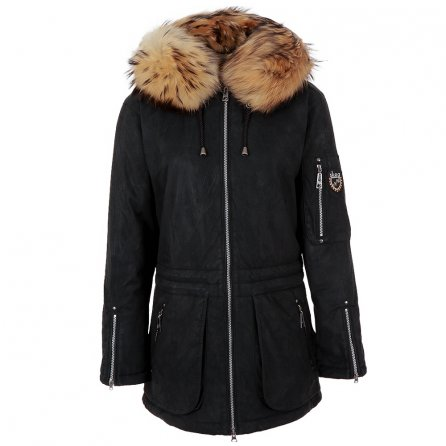 Skea Glory Insulated Coat with Real Fur (Women's) - Black