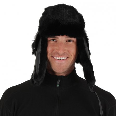 Peter Glenn Wool and Leather Trooper Hat (Adults') - Black