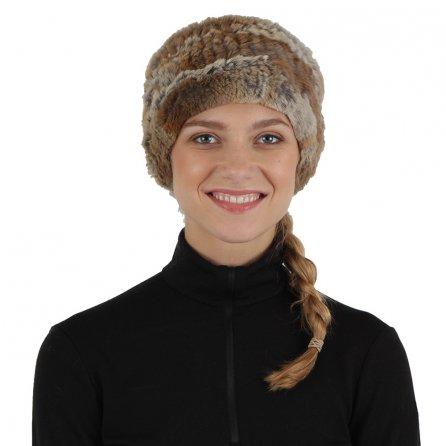 Peter Glenn Knitted Fox Stretch Headband (Women's) - Crystal