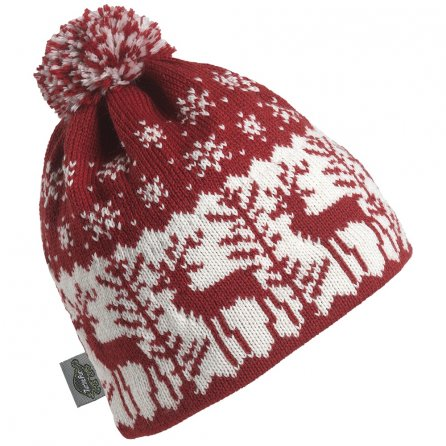 Turtle Fur Dear Deer Pom Hat (Women's) - Cardinal