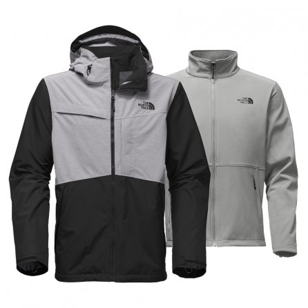 The North Face Condor Triclimate Ski Jacket (Men's) - TNF Black/TNF Medium Grey Heather