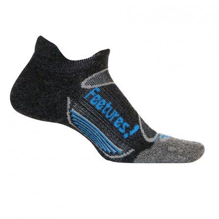 Feetures Elite Merino+ Cushion No Show Running Sock (Men's) - Charcoal/Brilliant Blue