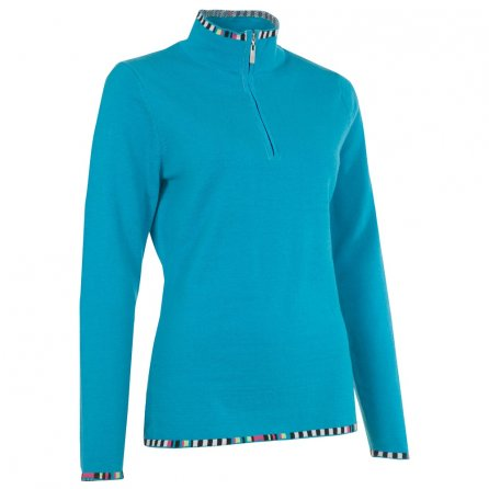 Neve Designs Anne Half Zip Sweater (Women's) - Turquoise