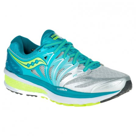Saucony Hurricane ISO 2 Running Shoe (Women's) - Blue/Silver/Citron
