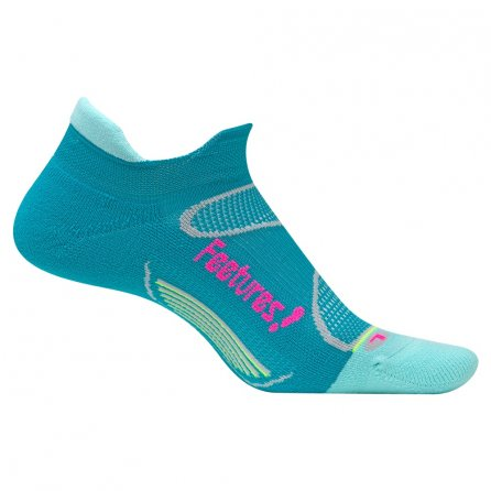 Feetures Elite Light Cushion No Show Tab Running Socks (Women's) - Capri/Pink Pop