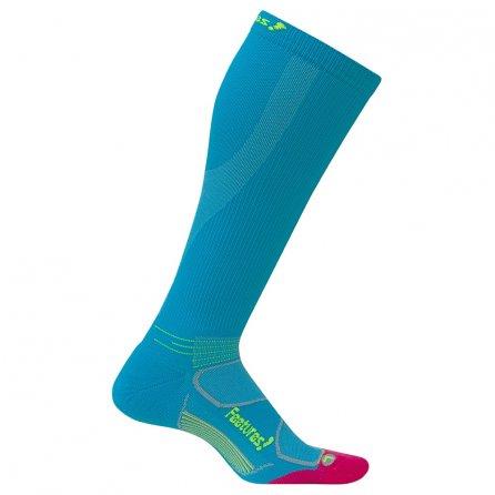 Feetures Graduated Compression Socks Light Cushion (Women's) - Hawaiian Blue/Reflector