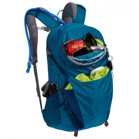 CamelBak Rim Runner 22 Hydration Backpack - Grecian Blue/Pumpkin