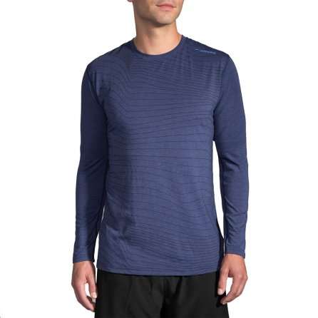 Brooks Distance Long Sleeve Running Shirt (Men's) - Heather Coast Forge