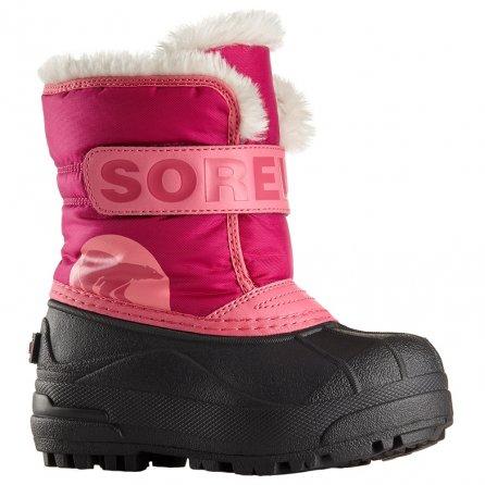 Sorel Snow Commander Boot (Toddler Girls') - Tropical Pink/Deep Blush